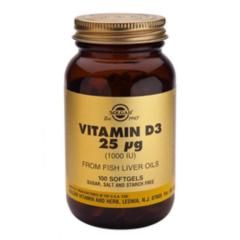 Vitamine D3 25µg/1000IU Softgels