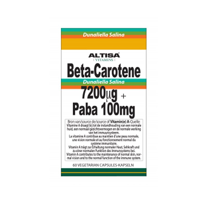 Beta Caroteen 7200 µg + Paba 100mg