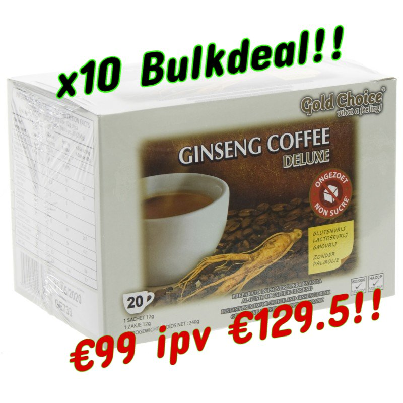 10 stuks Ginseng Coffee Deluxe BULKDEAL