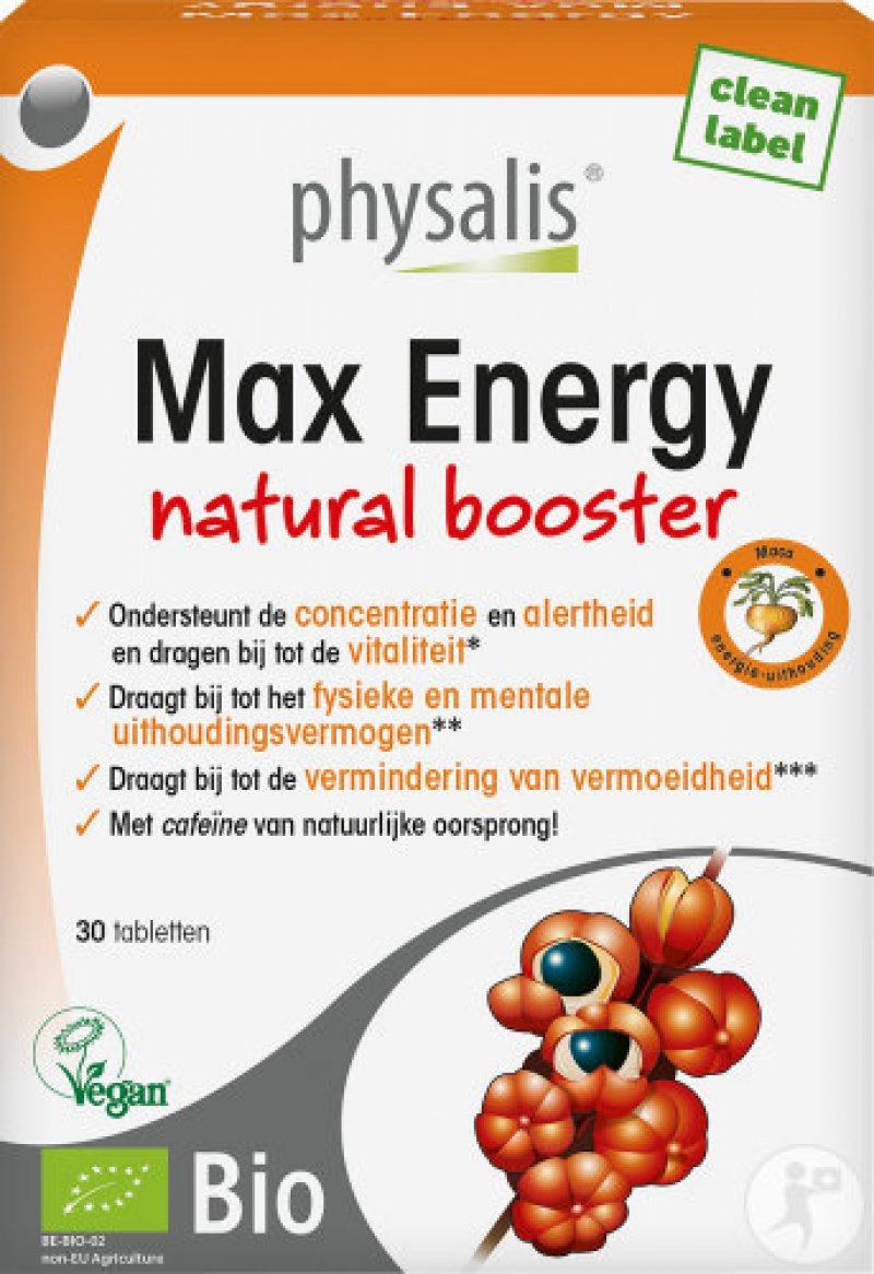 Max Energy natural booster 30 tabs