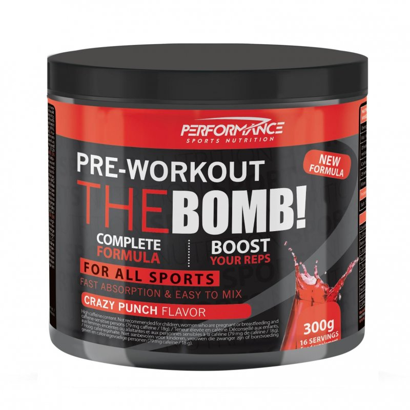 Pre-workout The Bomb crazy punch 300g