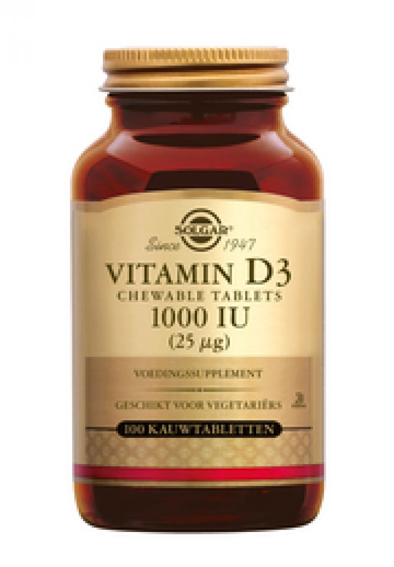 Vitamine D3 25µg/1000 IU Chewable tablet