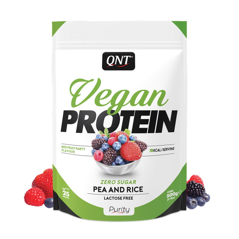Vegan protein red fruit party  500 gr