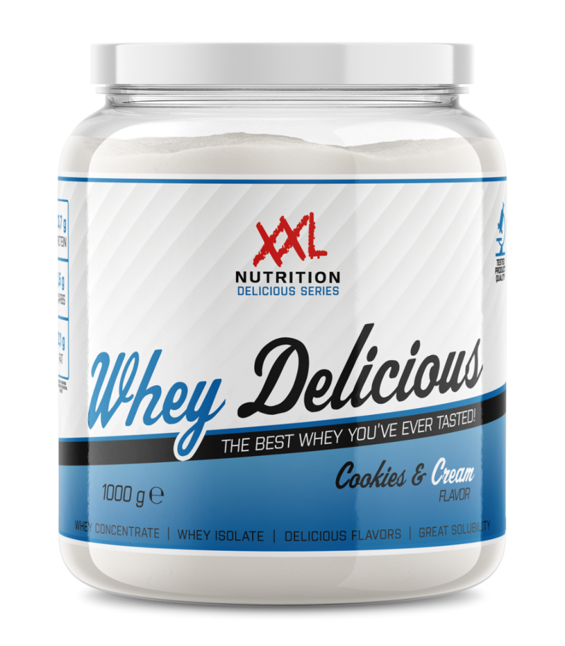 whey delicious protein cookies and cream 1000 g