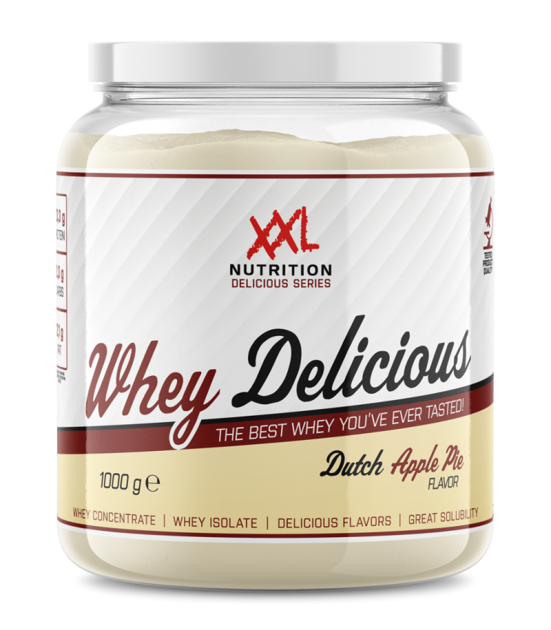 whey delicious protein appeltaart 1000 g