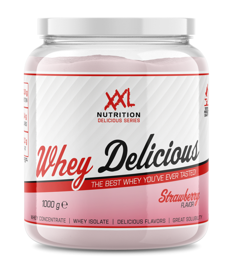 Whey Delicious Aardbei  1000gr