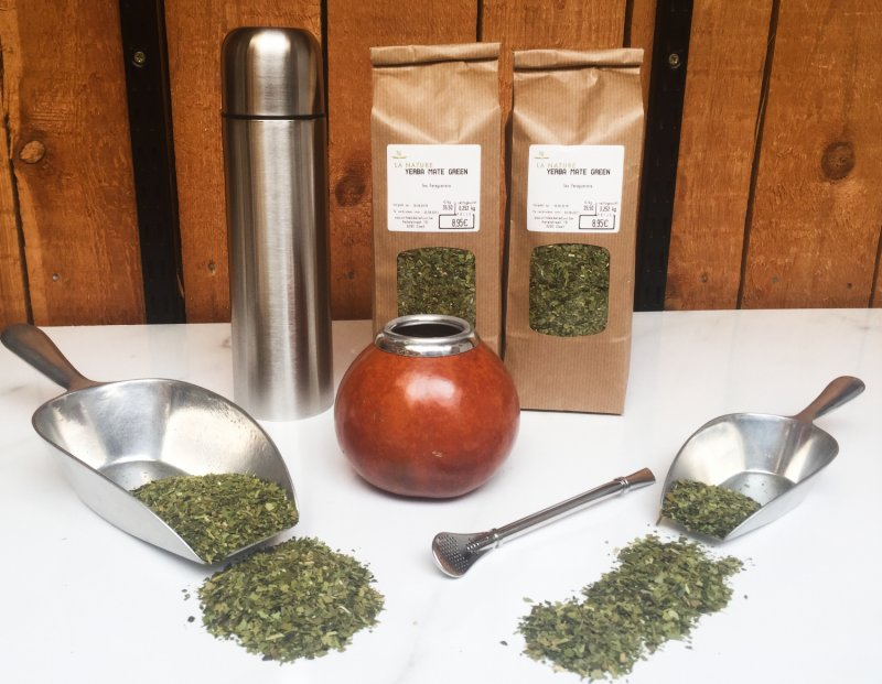 Yerba Maté kit met BASIC kalabas, bombilla, thee en thermosfles